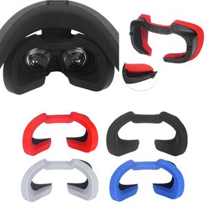 Image 1 - Yumuşak silikon göz maskesi kapak nefes işık engelleme göz kapak pedi Oculus Rift S VR kulaklık aksesuarları