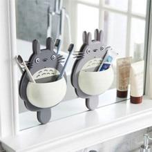 Tools-Accessories Toothbrush Bathroom-Organizer Totoro Sucker Wall-Mount-Holder Cute