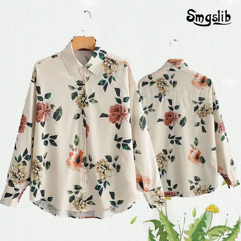 Womens Shirts, Easy Kimonos, Simple Printed England, Autumn and Winter Female Style, the Latest Style in 2019