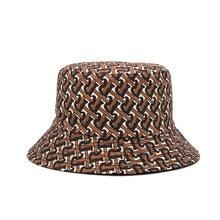 Luxury Cotton Letter Print Women's Bucket Hat Men Caps Panama Hats Bob Vintage Female Summer Bucket Cap Designer