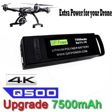 1-3pcs original gifi 3s 11.1v 7500mah atualizar vôo lipo bateria para yuneec q500 + q500 + pro 4k q500 4k rc zangão