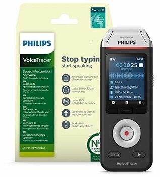 Philips-Grabadora digital de voz, 8GB, DVT2810, portátil