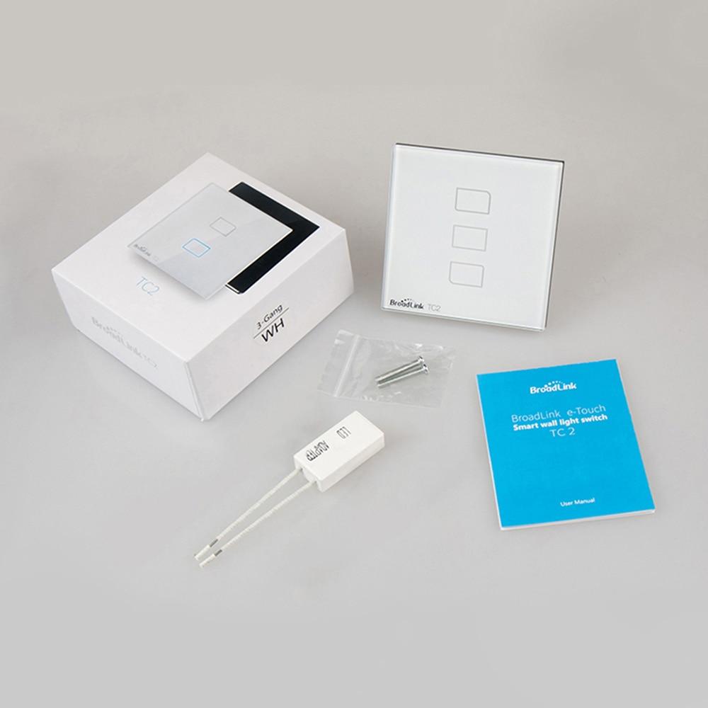 Broadlink TC2 ЕС WiFi переключатель Великобритании настенный светильник переключатель лампы RF 433 МГц Беспроводное управление через Broadlink RM4 Pro App Control смартфон
