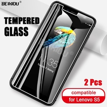 2 PCS Full Tempered Glass For Lenovo S5 Screen Protector 2.5D 9h tempered glass on the For Lenovo S5 Protective Film voongson 2 5d 9h screen protector for lenovo a806 a8 tempered glass for lenovo a 806 a808 a808t phone protective toughened glass