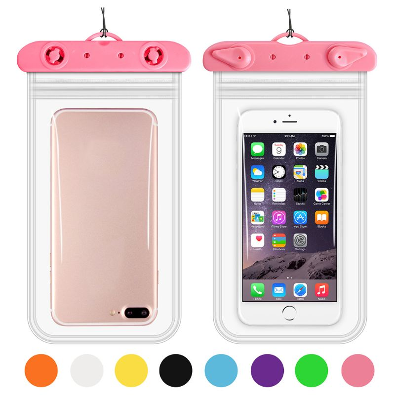 11x22cm Universal Waterproof Phone Case IPX8 Mobile Storage Pouch Clear Dry Cover Double Sealed for Swimming Underwater
