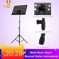 Portable Metal Music Stand Detachable Musical Guitar Instruments for Piano Violin Guitar Sheet Music Pink