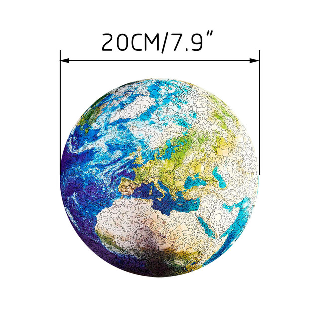 1000 Pieces Jigsaw Puzzles Educational Toy Scenery Kids For Adults Gifts Puzzle Round Space Stars Game Toys Earth Moon A3Y6 6