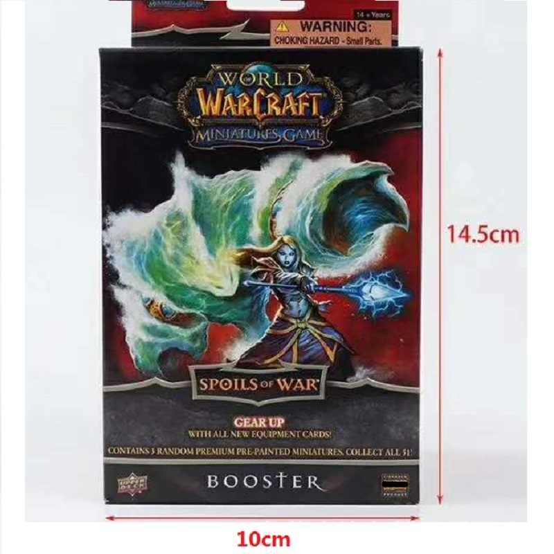 Original WORLD of WARCRAFT ตัวเลขการกระทำคอลเลกชันจำกัดสุ่ม 3 ชิ้น/เซ็ตอะนิเมะรูปหายากการ์ดของเล่น
