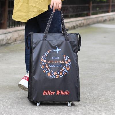 Портативная тележка для продуктов Женская Мужская сумка складная сумка тележка Сумка на колесах купить Сумка для овощей хозяйственная сумка трейлер XYLOBHDG - Цвет: I