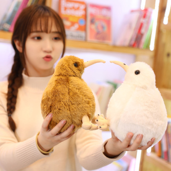 New Huggable Simulation Cute Kiwi Bird Plush Toys Stuffed Animal Toy Kids Birthday Gift Brown White Colors