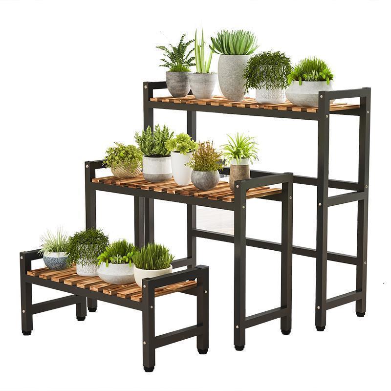Para Wood Stand Balkon Soporte Plantas Interior Etagere Pour Plante Flower Rack Dekoration Stojak Na Kwiaty Plant Shelf