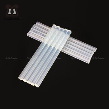 цена на Free shipping (10PCS/Lot) Non-Toxic Transparent 11mm X190mm Hot Melt Glue Sticks for DIY