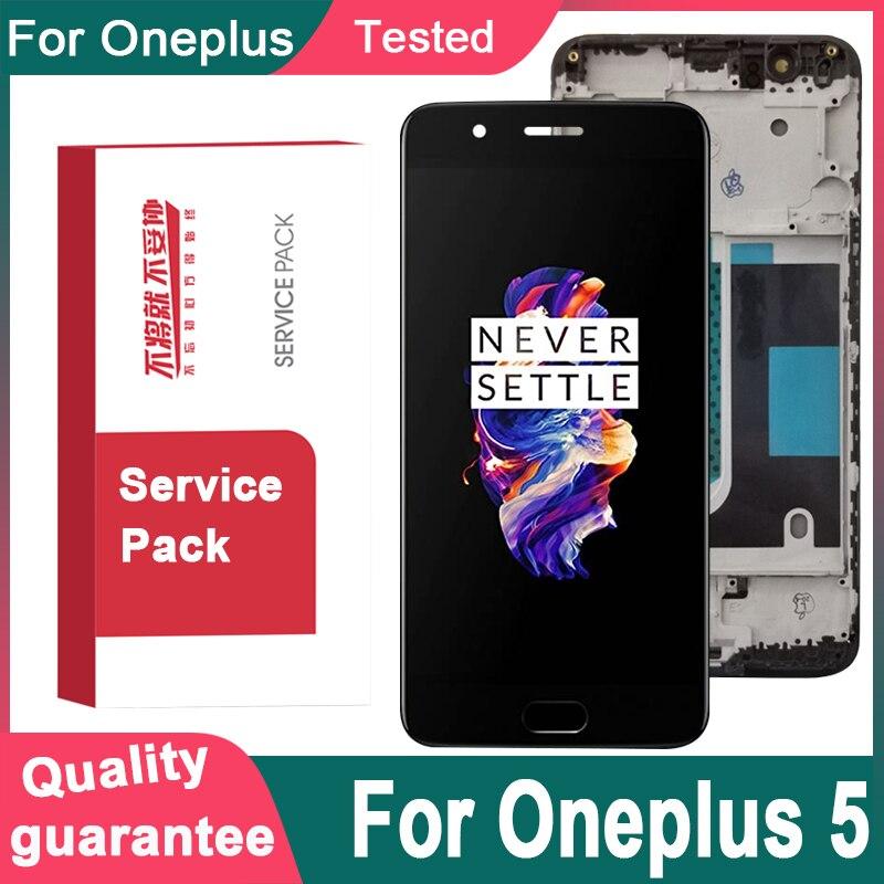 """5.5 """"oled para oneplus 5 a5000 display lcd tela de toque com quadro digitador para oneplus 5 dispaly para um mais 5 1 + 5 display"""