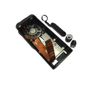 Image 2 - 2xBlack Front Shell Housing Case Cover Flex Cable Horn Volume Channel Knob Repair Kits For Motorola GP328 GP340 HT750 Radio
