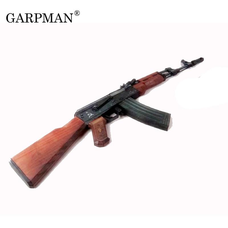Paper Model Traversing Fire Line Cs1:1 Gun Ak74 Assault Rifle 3D Paper Model Hand-made DIY