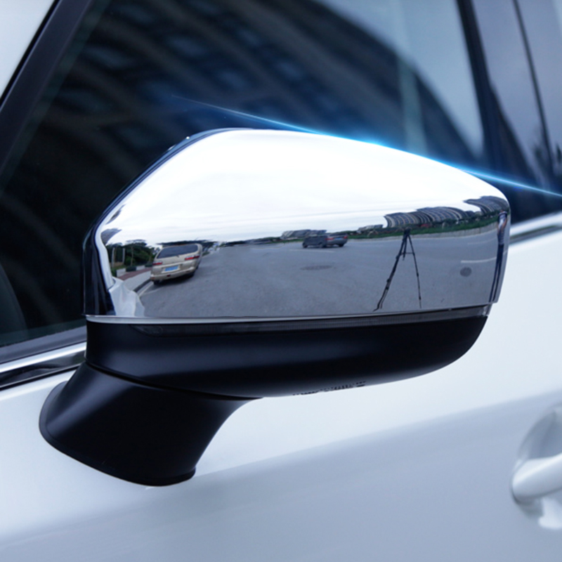 For <font><b>Mazda</b></font> Cx-5 <font><b>Cx5</b></font> KF <font><b>2017</b></font> 2018 2019 <font><b>accessories</b></font> Car Rearview mirror Cover Trim ABS chrome Exterior Modification Car Styling image