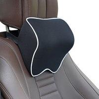Universal pescoço do carro encosto de cabeça travesseiro memória algodão espuma ajustável carro viagem assento cabeça apoio almofada peças automóvel