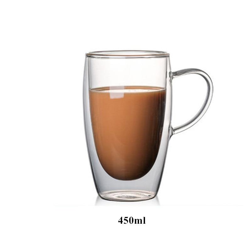 Детская одежда на рост 80, 250/350/450 мл чайник для заварки из термоустойчивого с двойными стенками, Стекло пивной бокал, Кубок Кофе чашки ручной работы здоровый напиток кружка Чай кружки прозрачный посуда для напитков - Цвет: I 450ml