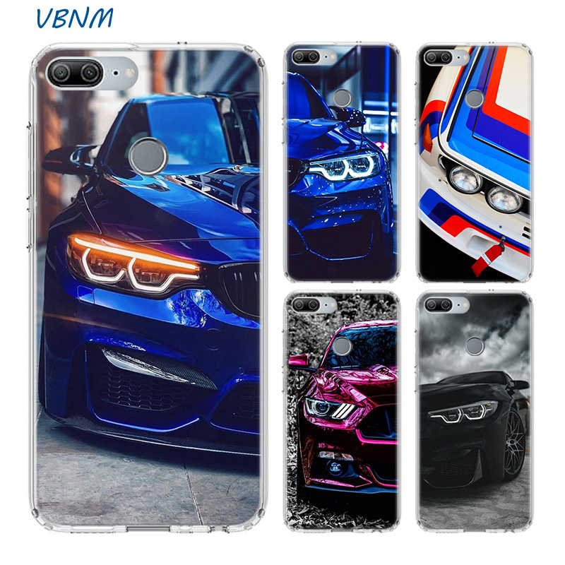 Super Car Red And Blue Silicone Funda <font><b>Case</b></font> For Huawei <font><b>Honor</b></font> 20 9 Pro 8X 10 lite 9X 8A 8C 8S V20 <font><b>20i</b></font> Y5 Y6 Y7 Y9 2019 Cover image