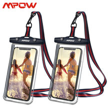Mpow 2 Pcs PA196 IPX8 Waterdichte Telefoon Case Universele 6.8 Inch Met Card Key Pocket Transparante Tas Voor Iphone 11 xiaomi Samsung(China)