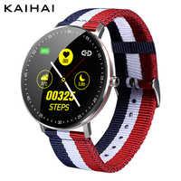 KAIHAI smart watch nuoto ip68 musica Monitor di Frequenza Cardiaca di tela orologi ciclismo traiettoria gps smartwatch per Android iphone