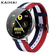 KAIHAI reloj inteligente ip68 con control del ritmo cardíaco, reloj inteligente de lona con gps y trayectoria para Android y iphone