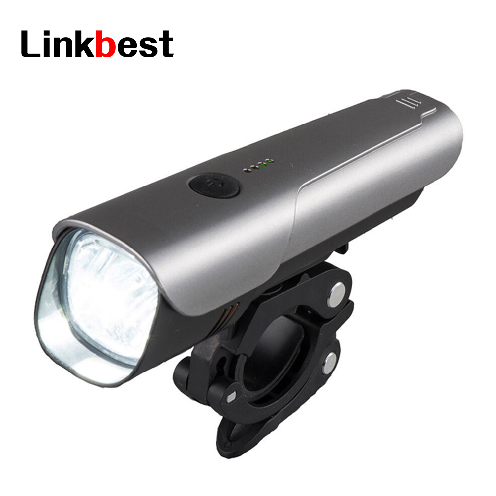 Linkbest 600 Lumens USB Rechargeable Bike Light , Near Range Beam Waterproof IPX5 Safety Bicycle Light Fits ALL Bikes