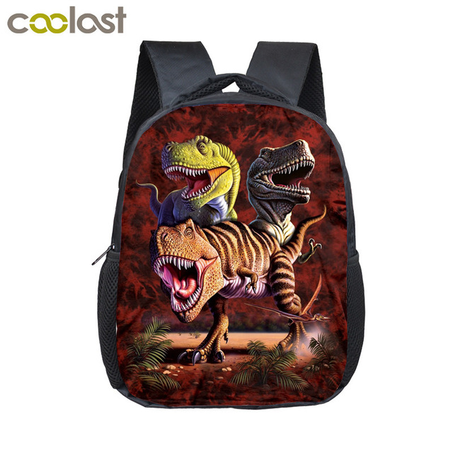 12 inch Customize Your Logo Name Image Toddlers Backpack Animals Dinosaur Children School Bags Baby Toddler Bag