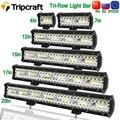 Светодиодная панель Tripcraft 3 ряда 4-28 дюймов, светодиодная световая панель рабосветильник света, комбинированный луч для автомобиля, трактора...