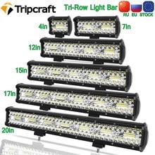 Tripcraft 3Rows LED Bar 4-28 inch LED Light Bar LED Work Light combo beam for Car Tractor Boat OffRoad 4x4 Truck SUV ATV 12V 24V