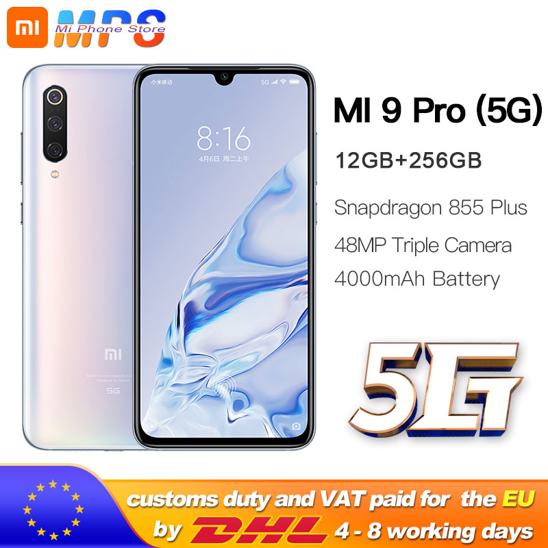 Xiaomi Mi 9 pro (5G)  12GB 256GB Smartphone Mi9 pro 5G Snapdragon 855plus 5G 48MP Triple Cameras 4000mAh Battery AMOLED 6.39 ''|Cellphones|Cellphones & Telecommunications - title=