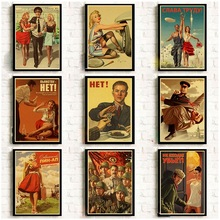 Nordic Style Home Decoration Canvas Painting Printed Modern Stalin USSR CCCP Retro Wall Artwork Modular Pictures Poster Bedroom
