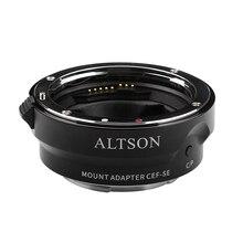 ALTSON otomatik odaklama Anti Shake USB yükseltilmiş Lens montaj adaptörü halka için yüksek hız Canon EF/EF S Lens sony e mount kamera