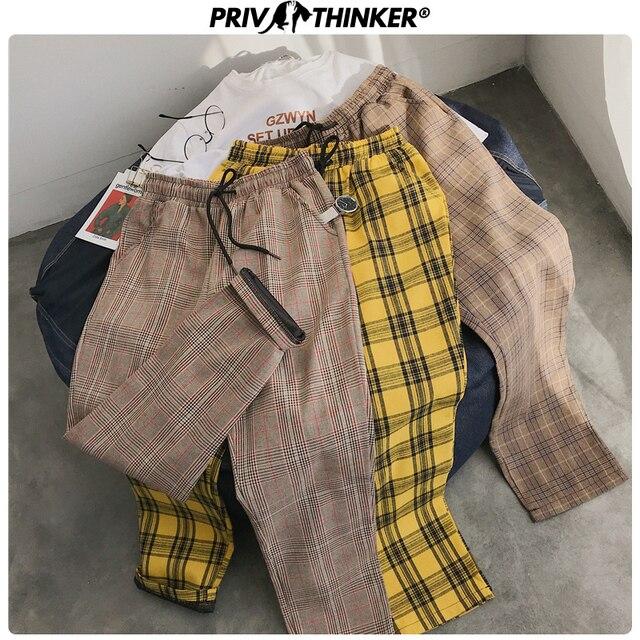 Privathinker Harajuku Plaid Pants For Women Trousers 2020 Streetwear Woman Harem Pants Autumn Ladies Causal Pants Plus Size 45