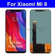 6.21 LCD Display For Xiaomi Mi 8 Mi8 LCD Screen Mi 8 Touch Screen Digitizer Assembly With Frame for Xiaomi mi8 LCD TFT Screen 8 4inch lcd panel with screen double lamp control in the 640 480 aa084vc03 lcd screen