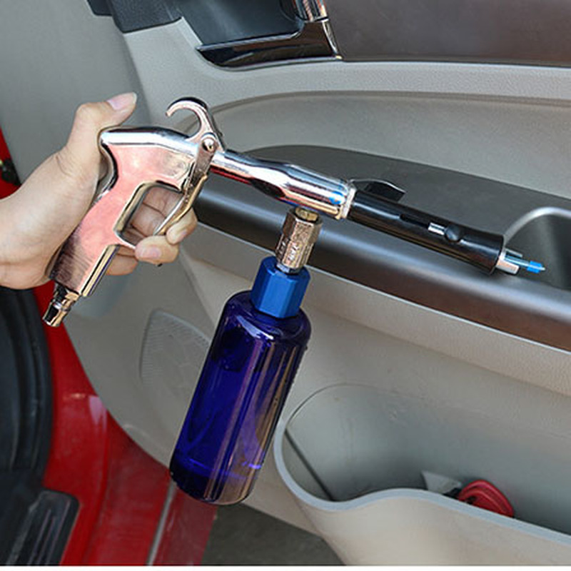 Car Tornado Ceiling Cleaning Gun Interior Gun Seat Door Plate Coated Velvet Fabric Engine Canopy Cleaning Gun