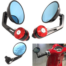 Espelho de visão da motocicleta scooter lidar com barra extremidade lateral espelhos retrovisores para vespa lt lx gt gts gtv 60 125 150 200 250 300 300ie