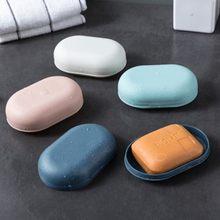 Caso protetor de sabão plástico chuveiro do banheiro caixa de sabão bandeja prato de armazenamento titular casa viagem boîte à savon
