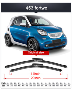 Image 4 - 2x Suave Frameless Bracketless Borracha Car Windshield Wiper Blade 14   23 21 20 Acessórios Para Smart fortwo forfour 451 453
