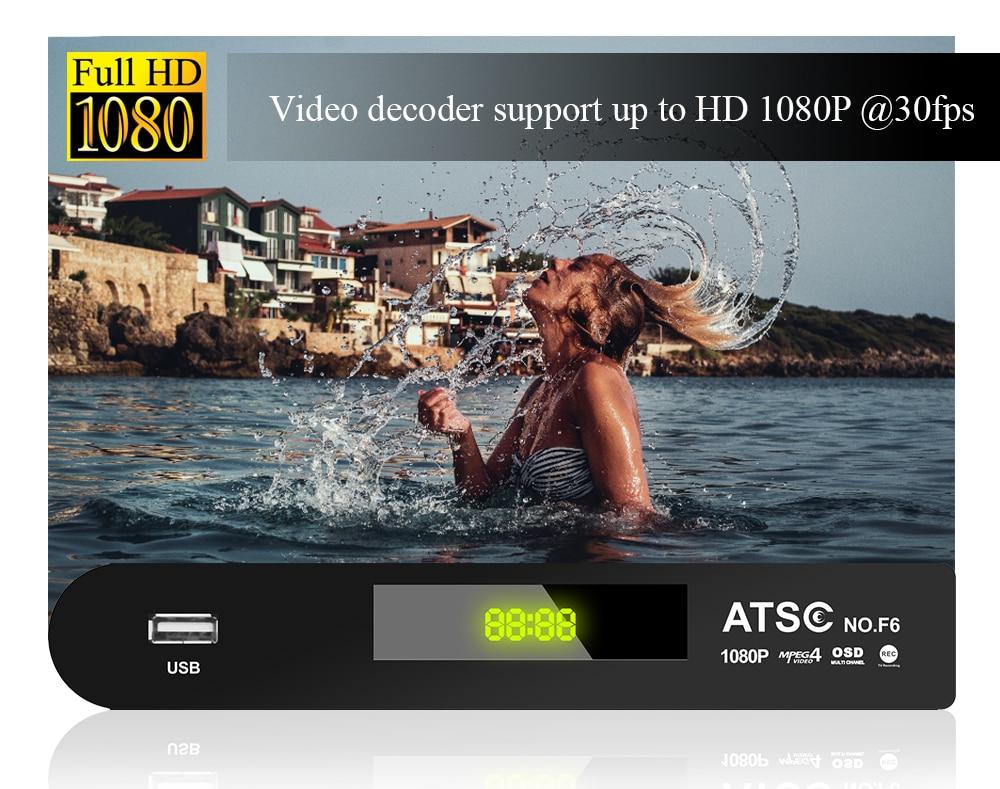 ATSC T terrestrial digital HD TV receiver work at USA Canada Mexico Korea tuner ATSC-T atsc t standard 17