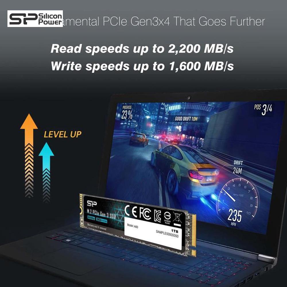 Silicon Power A60 M2 NVME SSD 256GB 512GB 1TB M.2 2280 PCIE Nvme Bên Trong  Ổ Cứng Thể Rắn Ổ Cứng Cho Laptop/Máy Tính Để Bàn|Internal Solid State  Drives| - AliExpress