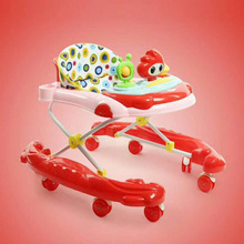 New Baby Stroller Walker Anti-rollover with Brake Double Arc Type Walker Multi-function Foldable Learn To Walk Baby Carriage