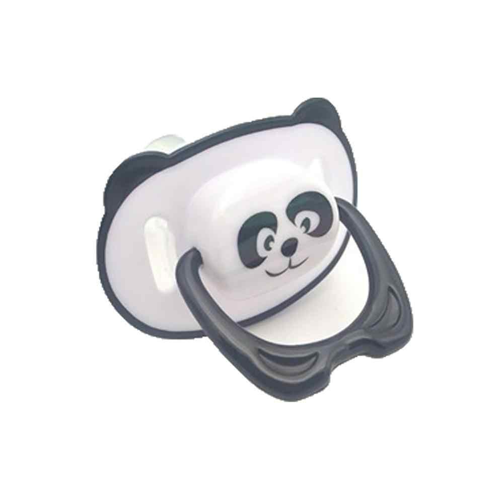 Bayi Baru Lahir Dot Kartun Panda BABY Makanan Grade Silikon Ortodonti Dot Bulat Datar Kepala Penenang Puting
