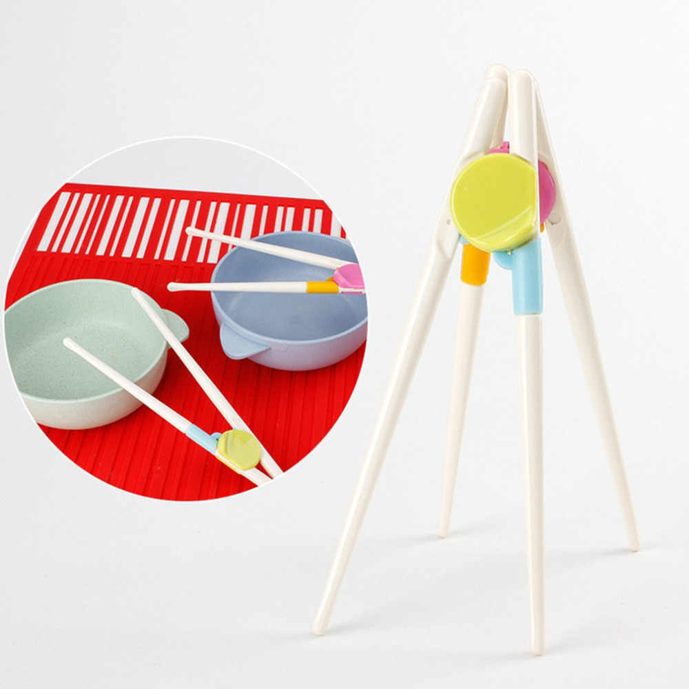 A Pair/Set Children Chopsticks Kids Baby Enlightenment Learning Training Chopsticks Easy To Use Chopsticks For Beginner New Hot