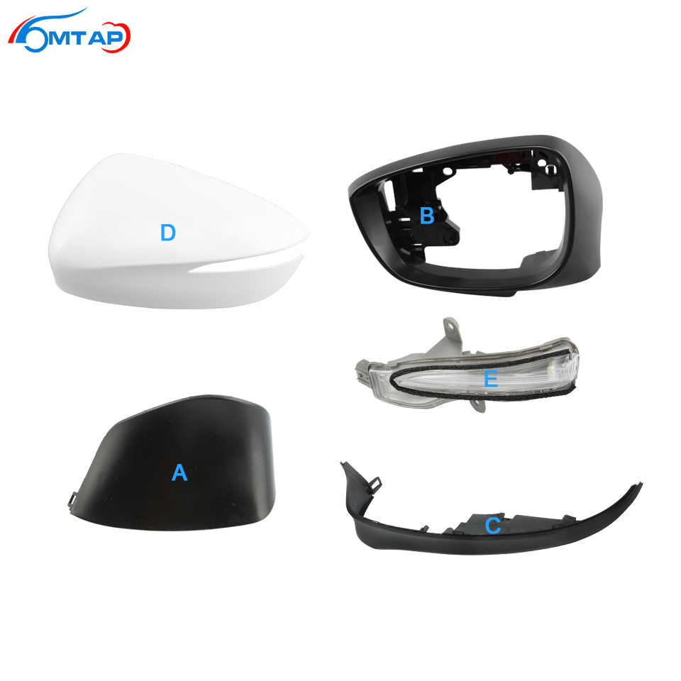 MTAP Car Door Rearview Mirror <font><b>Accessories</b></font> Mirror Cover Housing Frame Turn Signal For <font><b>Mazda</b></font> <font><b>CX</b></font>-4 <font><b>CX</b></font>-<font><b>5</b></font> 2015 <font><b>2016</b></font> 2017 2018 image