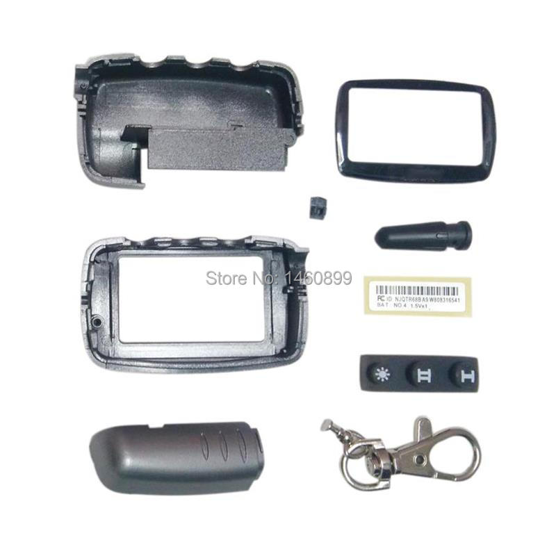 A9 Case Keychain Body Cover For 2 Way Car Alarm System LCD Remote Control Key Chain Fob Starline A9 A6 A8 A4