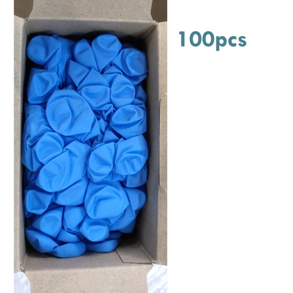 Comfortable Rubber Disposable Mechanic Laboratory Safety Work Nitrile Gloves Blue White Safety Work Gloves