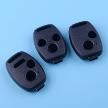 цена на DWCX Black Plastic Car Remote Key Fob Shell Case Cover Fit For Honda Civic Accord Pilot Fit CRV Ridgeline Jazz FRV Insight