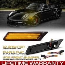 2 pçs dinâmico led marcador lateral luz seta pisca indicador de sinal para porsche boxster 987 cayman 997 911 carrera turbo