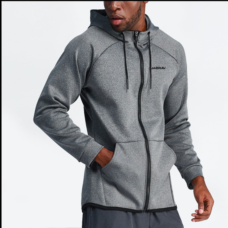 Men's Long Sleevel Hooded Coat Training Running Shirts Jackets Outdoor Hooded Zipper Jackets Mens Gym Casual Coats Clothing